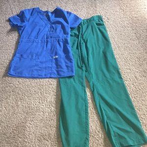 Greys anatomy 2 pc sz s scrubs set